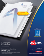 Avery<sup>&reg;</sup> Print-On<sup>&reg;</sup> Dividers 11517