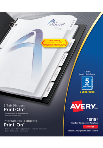 Avery<sup>&reg;</sup> Print-On<sup>&reg;</sup> Dividers - Avery<sup>&reg;</sup> Print-On<sup>&reg;</sup> Dividers