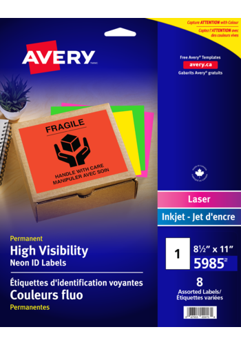 Avery<sup>®</sup> High Visibility Neon ID Labels - Avery<sup>®</sup> High Visibility Neon ID Labels