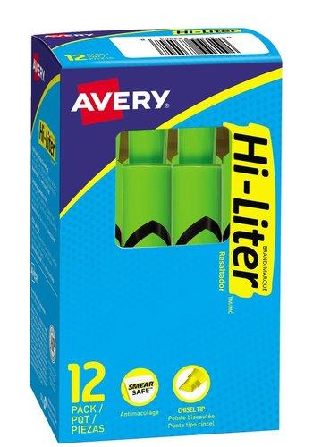 Avery® 83504 - HI-LITER®  Surligneur modèle bureau, Vert Fluoresecent