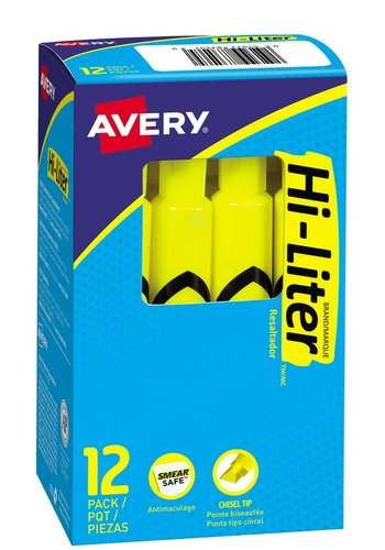 Avery® 83507 - Desk Style HI-LITER® , Fl. Yellow