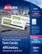 Avery<sup>&reg;</sup> Medium Tent Cards 5305