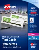 Avery<sup>®</sup> Affichettes Moyennes pour imprimantes à laser ou jet d'encre 5305