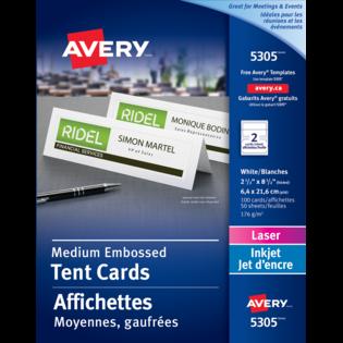 Avery® Medium Tent Cards