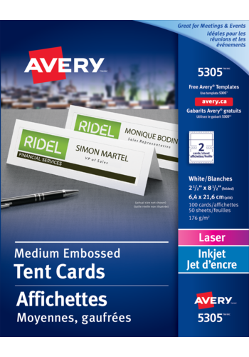 Avery<sup>&reg;</sup> Medium Tent Cards - Avery<sup>&reg;</sup> Medium Tent Cards