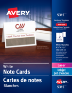 Avery<sup>®</sup> Note Cards 5315