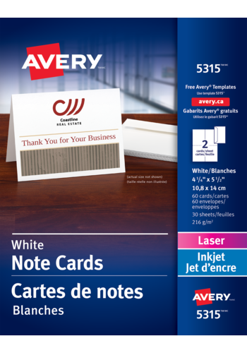 Avery<sup>®</sup> Cartes de notes pour imprimantes à laser - Avery<sup>®</sup> Cartes de notes
