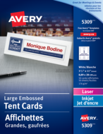 Avery<sup>&reg;</sup> Large Tent Cards 5309