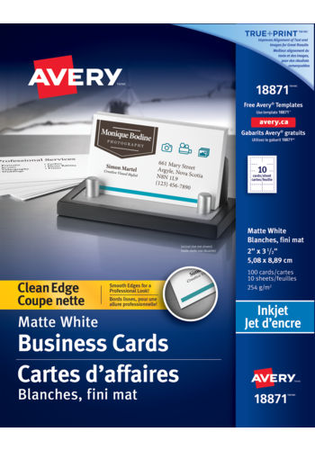 avery 18871 clean edge business cards 2 x 3 1 2 rectangle white