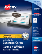 Avery<sup>®</sup> Clean Edge Business Cards 38871
