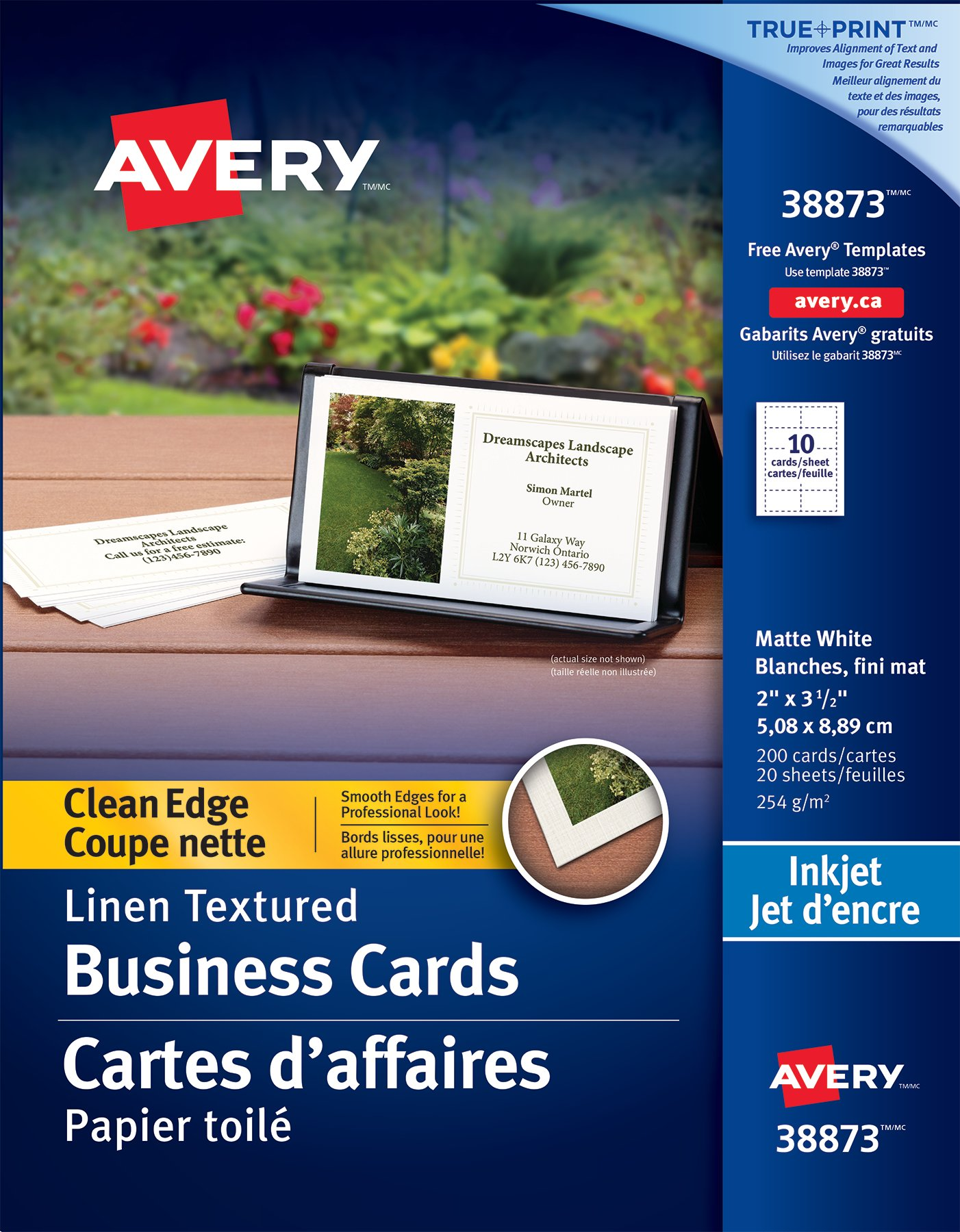 Business cards make your own online custom business card avery clean edge business cards 38873 2 x 3 rectangle reheart