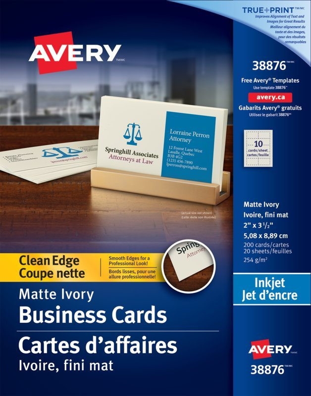 Avery® 38876 - Clean Edge Business Cards , 2\