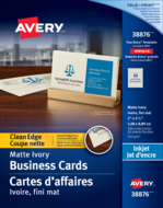 Avery<sup>®</sup> Clean Edge Business Cards 38876