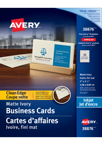 Avery<sup>&reg;</sup> Clean Edge Business Cards - Avery<sup>&reg;</sup> Clean Edge Business Cards