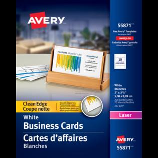 Avery® Cartes d'affaires à coupe nette