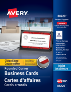 Avery<sup>&reg;</sup> Clean Edge Business Cards 88220