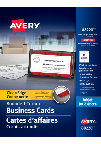 Avery<sup>®</sup> Clean Edge Business Cards - Avery<sup>®</sup> Clean Edge Business Cards with Rounded Corners