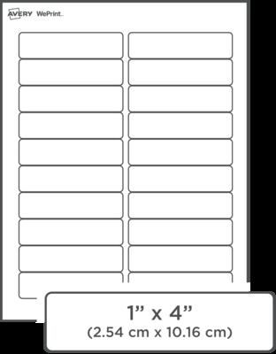 Étiquettes d'adresse imprimées personnalisées