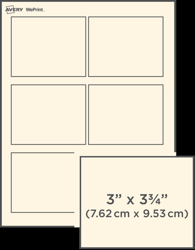 Custom printed rectangular labels