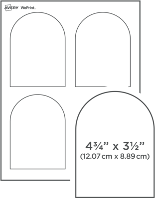 Custom Printed Arched Labels