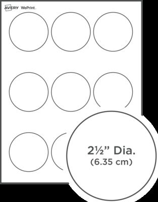 Étiquettes rondes imprimées personnalisées