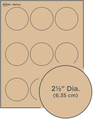 Custom Printed Kraft Brown Round Labels