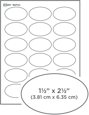 Custom Printed Dissolvable Oval Labels
