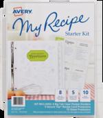 Avery<sup>&reg;</sup> Ma reliure de recettes Trousse de démarrage avec un jeu d'intercalaires 19915