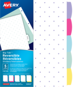 Avery<sup>®</sup> Big Tab™ Reversible Dividers - Mini-Dots 12853