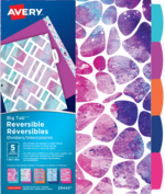 Avery<sup>&reg;</sup> Big Tab&trade; Reversible Dividers - Geometric Pattern 29443