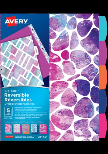 Avery<sup>&reg;</sup> Big Tab&trade; Reversible Dividers - Geometric Pattern - Avery<sup>&reg;</sup> Big Tab&trade; Reversible Dividers