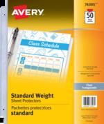 Avery<sup>®</sup> Pochettes protectrice épaisseur standard 74305