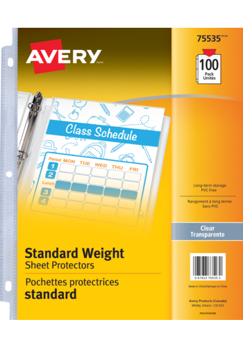 Avery<sup>®</sup> Standard Weight Sheet Protectors - Avery<sup>®</sup> Standard Weight Sheet Protectors