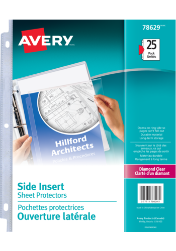 Avery<sup>®</sup> Side Insert Sheet Protectors - Avery<sup>®</sup> Side Insert Sheet Protectors