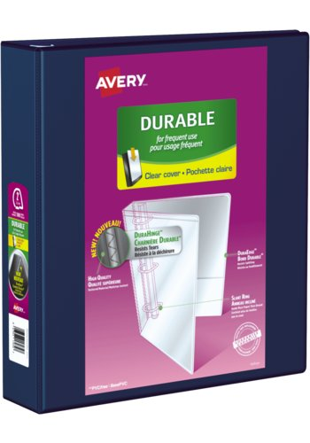 Avery® 17034 - Durable View Binder,  Holds 8½in. x 11in. Paper, Navy