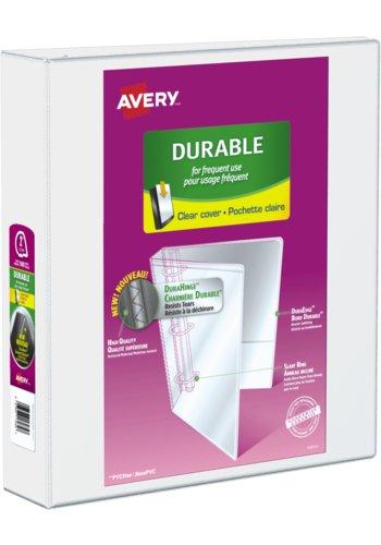 Avery® 17032 - Reliure de présentation Durable,  Dit 8½ in.x 11in. Papier, Blanc