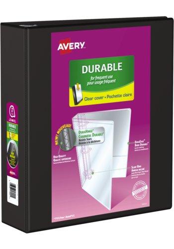 Avery® 17041 - Reliure de présentation Durable,  Dit 8½ in.x 11in. Papier, Noir