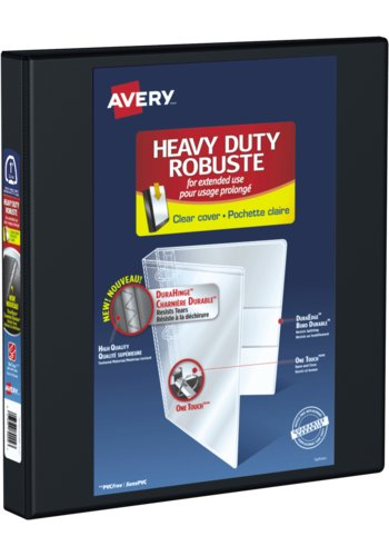 Avery® 89002 - Heavy Duty View Binder,  Holds 8-1/2in. x 11in. Paper, Black
