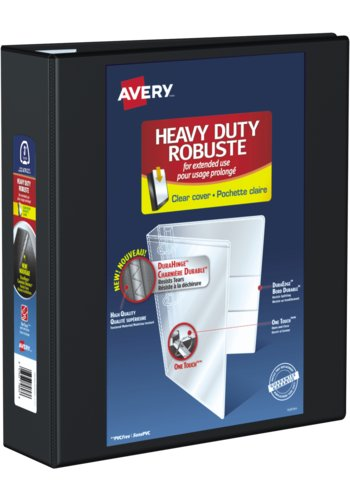 Avery® 79693 - Heavy Duty View Binder,  Holds 8-1/2in. x 11in. Paper, Black