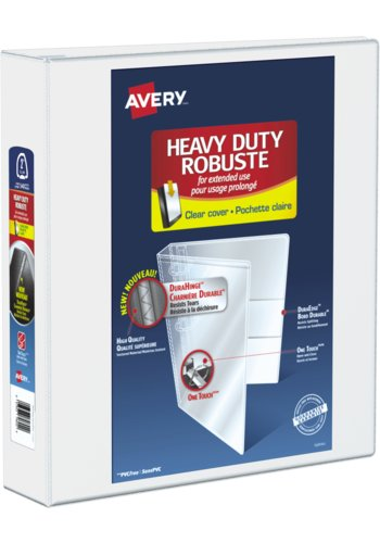 Avery® 79792 - Heavy Duty View Binder,  Holds 8-1/2in. x 11in. Paper, White