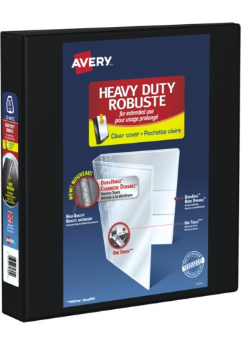 Avery® 79695 - Heavy Duty View Binder,  Holds 8-1/2in. x 11in. Paper, Black