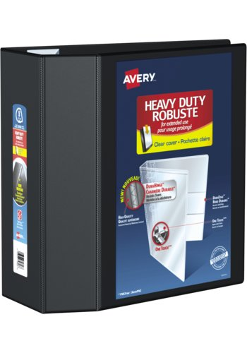 Avery® 79606 - Heavy Duty View Binder,  Holds 8-1/2in. x 11in. Paper, Black
