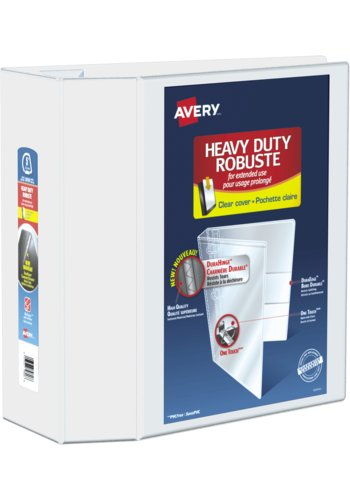 Avery® 79706 - Heavy Duty View Binder,  Holds 8-1/2in. x 11in. Paper, White