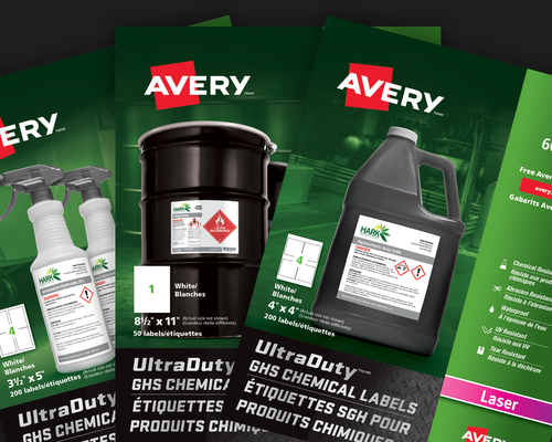 UltraDuty GHS Chemical Labels
