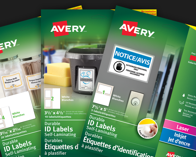 Easy Align Self Laminating ID Labels
