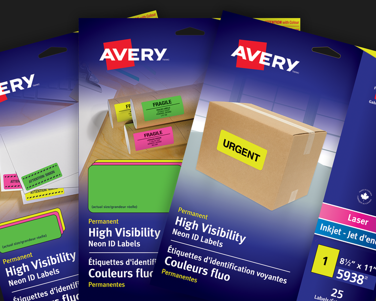 High Visibility Neon ID Labels