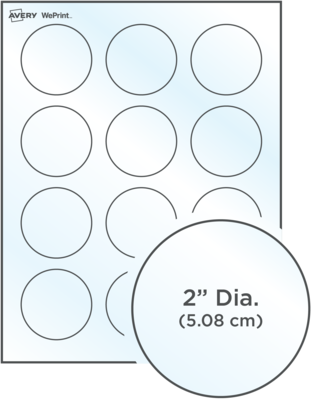 Avery<sup>®</sup> Custom Printed Glossy Clear Round Labels