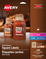 Avery<sup>®</sup> Print-to-the-Edge Square Labels 22486