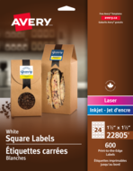 Avery<sup>®</sup> Print-to-the-Edge Square Labels 22805