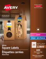 Avery<sup>&reg;</sup> Étiquettes carrées imprimables jusqu'au bord 22805